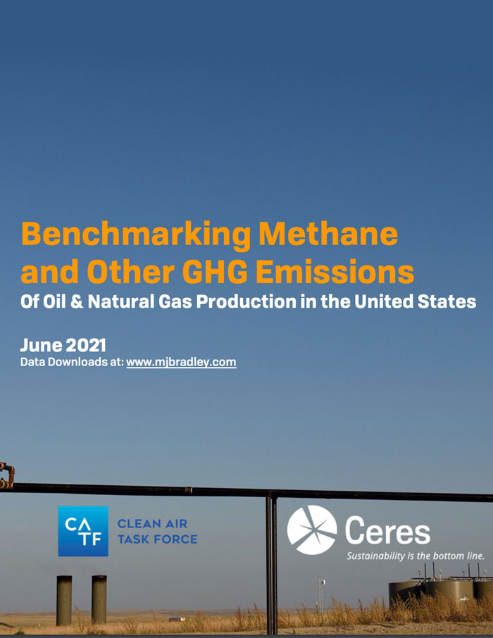 Benchmarking Methane report cover
