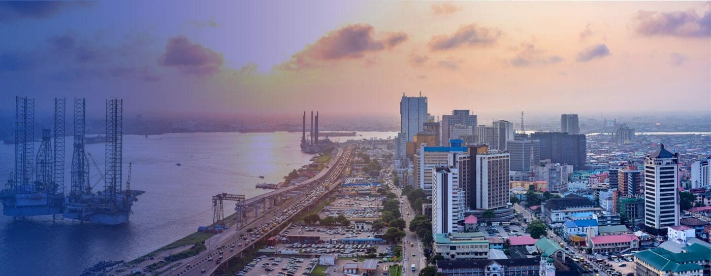 Urban city in Africa