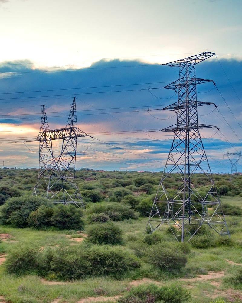 Powerlines in Africa